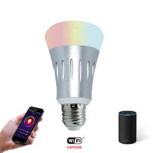 Google Alexa Controlled Wifi Smart Bulb Colorful Dimmable RGB Smart Wifi Led Light Bulb