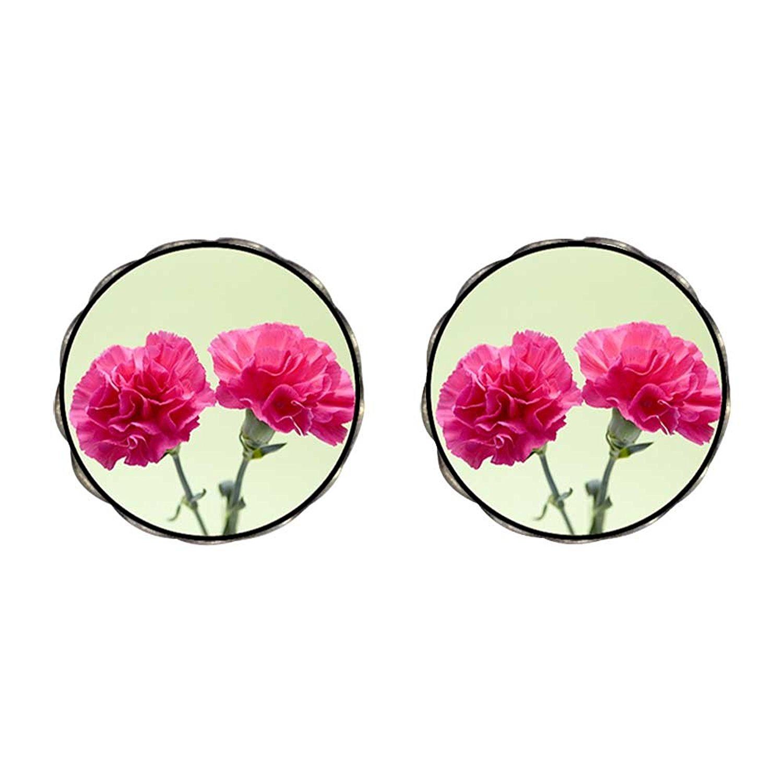 GiftJewelryShop Bronze Retro Style Snowflake Photo Flower Stud Earrings 14mm Diameter