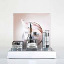 Aanrecht Acryl Cosmetische Display Stand <span class=keywords><strong>Plastic</strong></span> Parfum Foundation Huidverzorging Product Display Houder