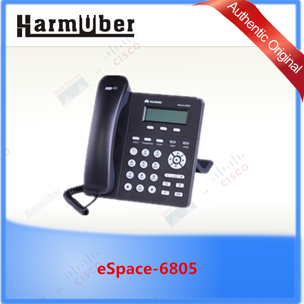 user-friendly 2-line SIP phone Huawei's eSpace 6805 IP Phone