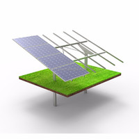 Solar ground mount for photovoltaic systems based on cement foundation