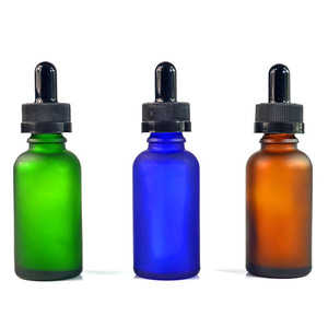 High quality free samples 5ml 10ml 15ml 20ml 30ml 50ml 100ml frosted amber green blue glass dropper bottle
