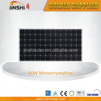 60w Mono Crystalline Solar Panel Pv Module Tuv Iec Ce