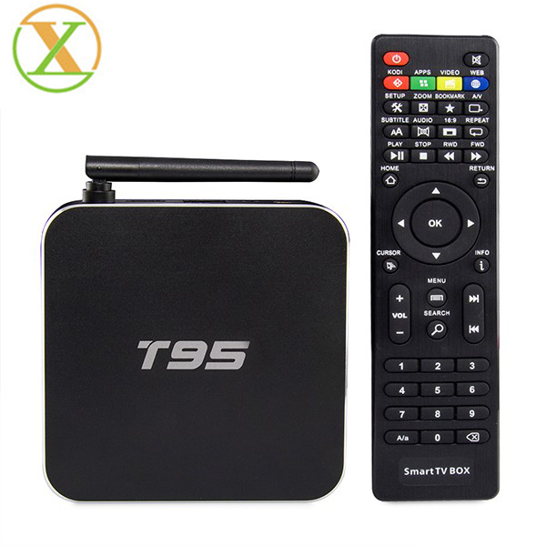 T95 metal case high quality s905x box android tv quad core 1gb 8gb unblock tv box
