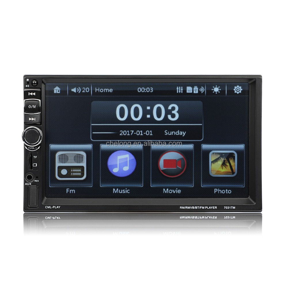 Mirror link MP5 7 inch car MP5 MP3 MP4 Double 2 Din Bluetooth 1080P FM Player support USB SD 7031TM