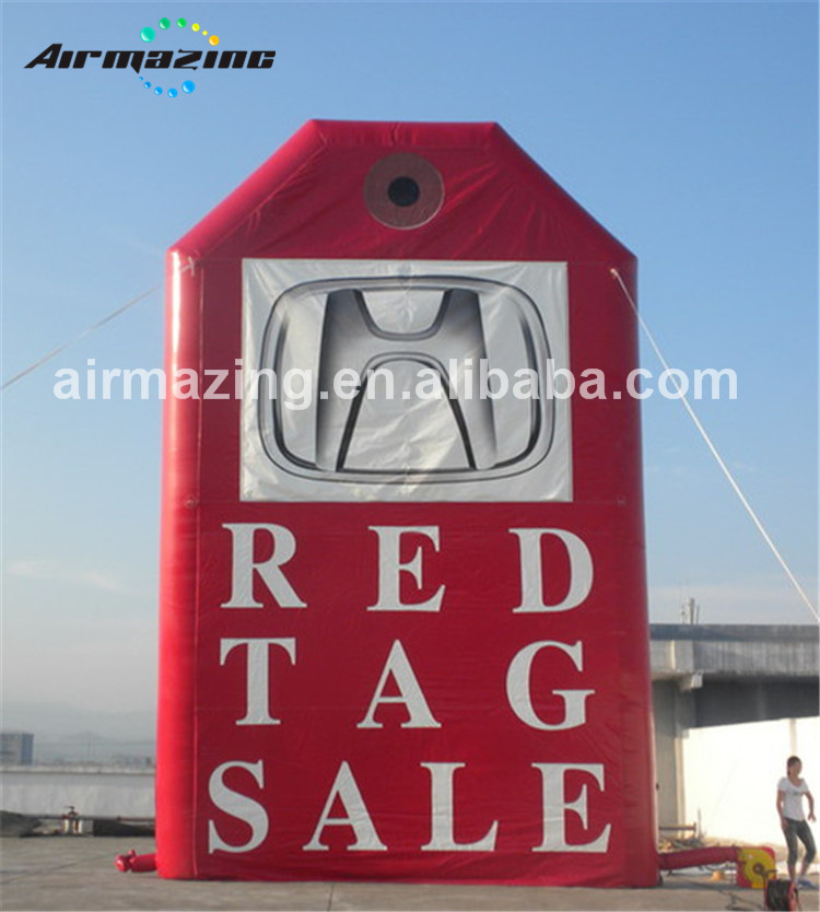 Outdoor advertising Inflatable RED TAG SALE, inflatable billboard for car H3069