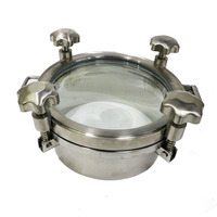 hygienic circular manway pressure tank manhole cover with sight glass