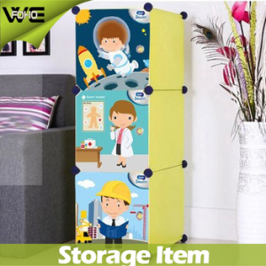 Portable Folding Kids Plastic Wardrobe Closet