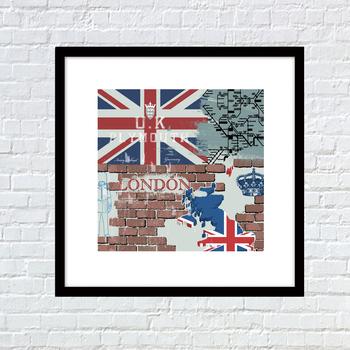 Modern Ev Dekor Resimlerinde Ingiltere Ulusal Bayrak Duvar Kağıdı