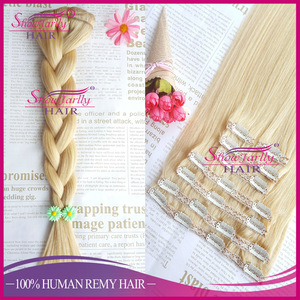 8pcs 100g silky straight remy russian human hair 613 blonde color overnight shipping in USA clip in hair extensions