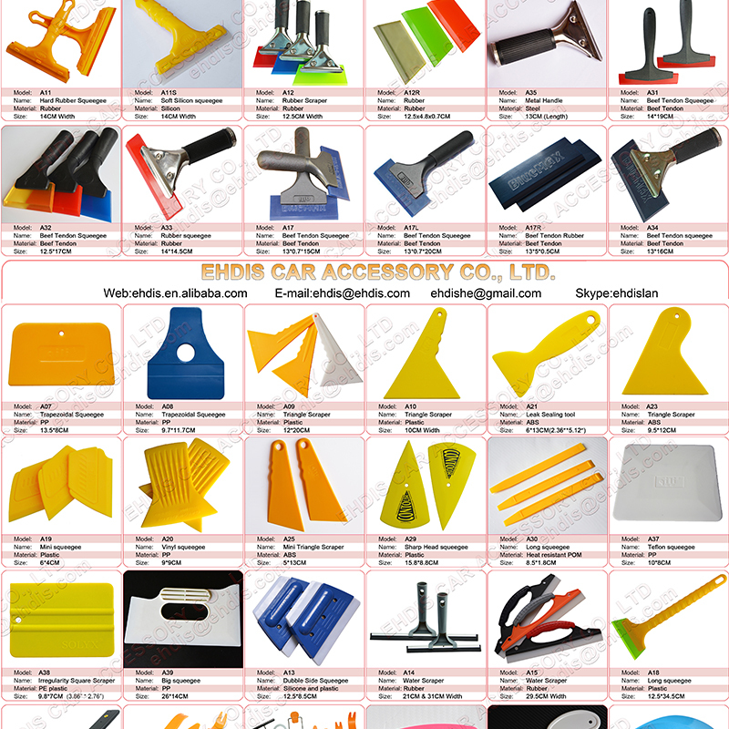 Car window film scraper squeegee tool mini scraper buy for Window design tool