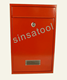 Residential home red post bulk mailing box