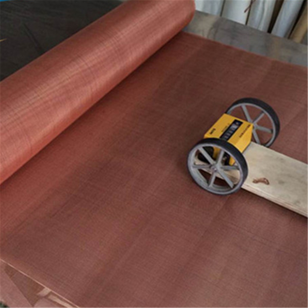 High transparency good conductive 200 mesh Red copper wire mesh