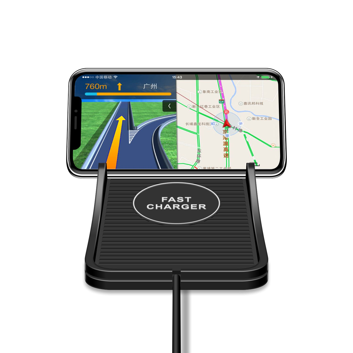 For iPhone X Samsung galaxy s9 Portable qi fast wireless car charger 10W quick Wireless mobile phone charger mat