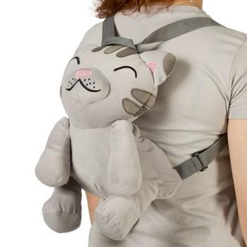 Kids Soft Kitty Plush Cat Backpack