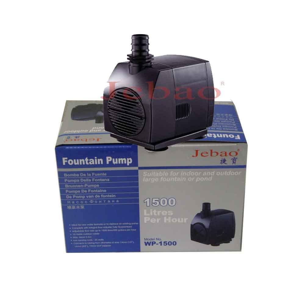 400 GPH Submersible Pump Fountain Pond Waterfall Hydroponics Jebao WP-1500