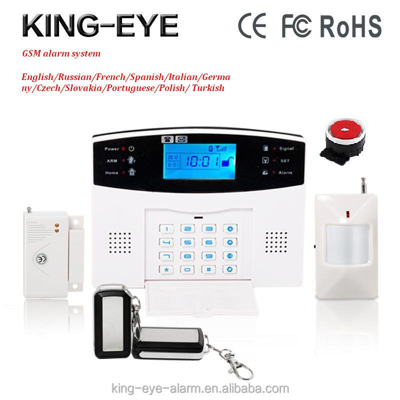 Android/IOS APP LCD 99 wireless +7 wired zone wireless gsm alarm home security system with magnetic door sensor