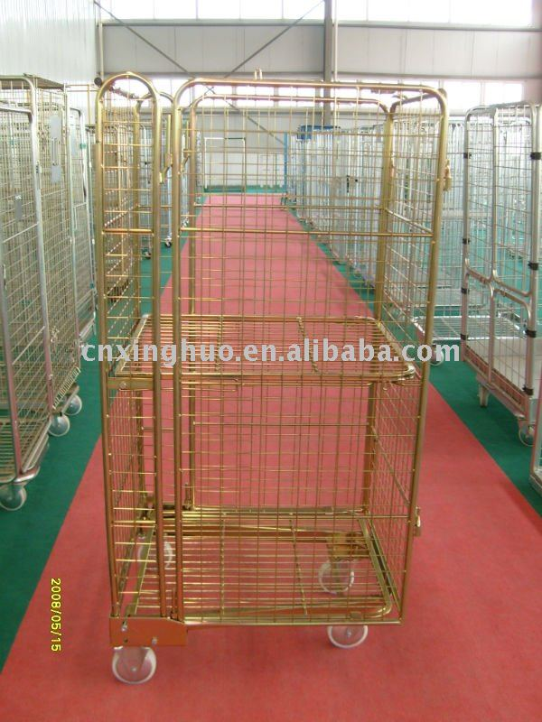 2011 new 4-sided roll cage / roll container/ super market trolley(safty style)
