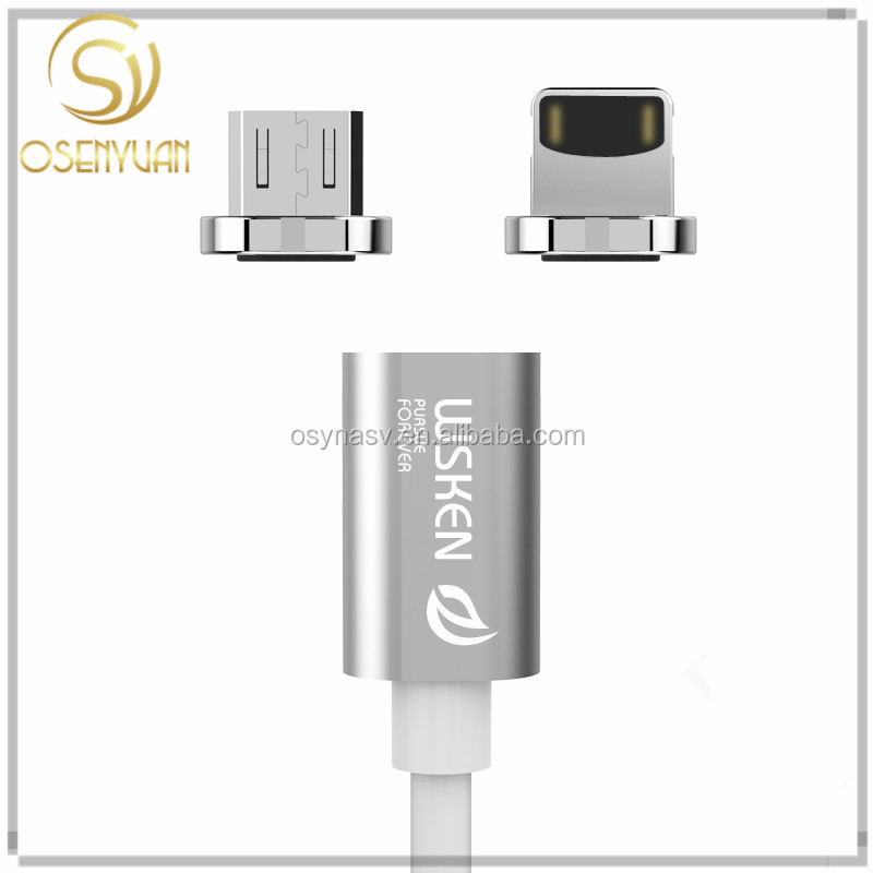 Wsken X- Cable Mini 1 Nylon Braided line Magnetic Data Cable Charger Micro USB Cable For Andriod USB 3.O Samsung HTC Huawei