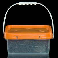 High quality 0.5/1/2/4 gal gallon square plastic bucket pails with lid and handle