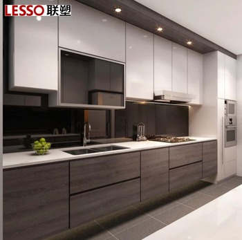 2 Color Mixed Lacquer Kitchen Cabinet With Germany Homag Machine Buy White Lacquer Kitchen Cabinets Black Lacquer Kitchen Cabinet Modern Pink