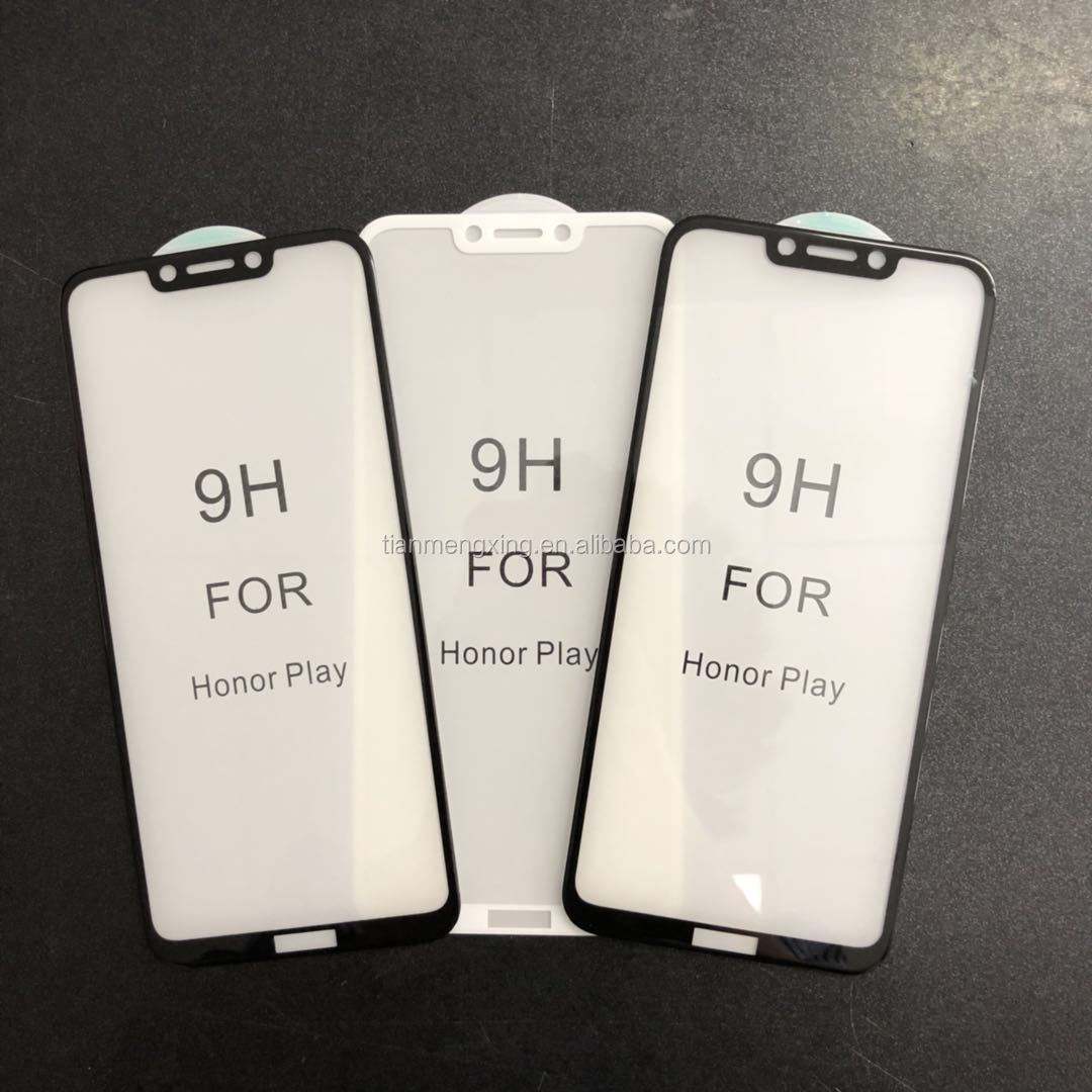 5D Full Glue Cover Tempered Glass For Huawei Honor Play Screen Protector For Huawei Honor Play Protective Film For Honor Play