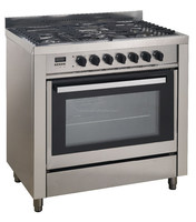 Freestanding gas range w/ 5 burners oven