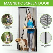 Wholesale Free cut size magnetic screen door curtain lower Mosquito control net for window and doors