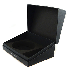 ODM simple flat cardboard factory custom folding flip top gift boxes