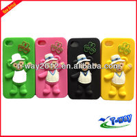 silicone bubble pack case for iphone 4