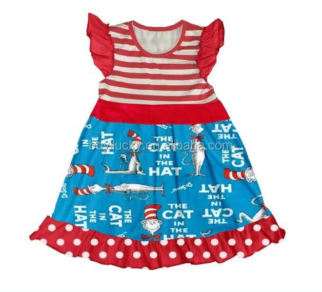 whosale children clothing usa Boutique Remakes Girls Flutter Sleeves Dress