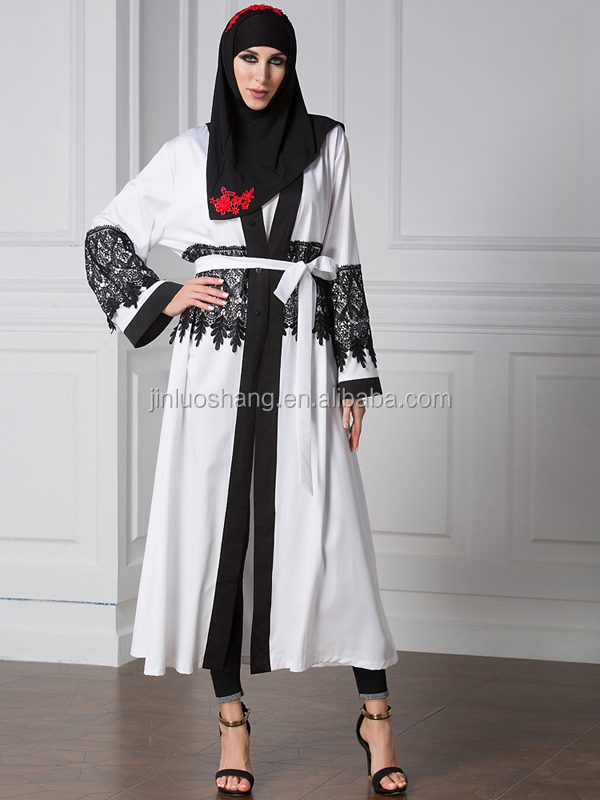 2017 fashion abaya egypt with long sleeve front open abaya kimono abaya models dubai for wholesale