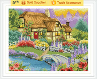 GZ192 OEM paintboy room decor beautiful house good quality DIY mosaic painting