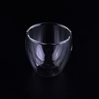 2oz double walled glass cup wholesale