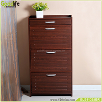 High quality furniture teak wooden shoe cabinet furniture for groupon
