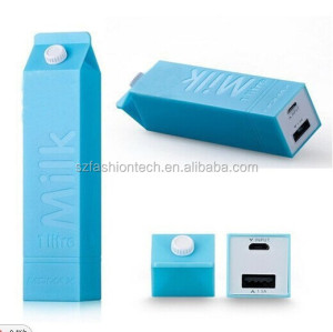 2600mAh milk case shape low cost portable power bank