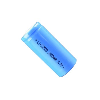 china factory direct sale 22500 li-ion 3.7v lithium polymer 2400mah cylindrical lipo battery