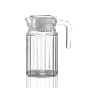 Factory sales price 1600ml cool water glass bottle jug with plastic lid