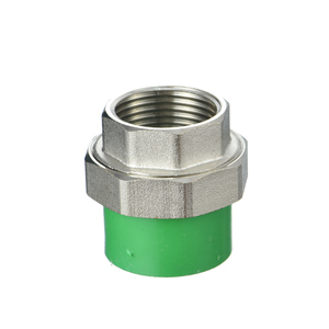 Ifan ppr pipe fitting brass female thread union ppr female adaptor union