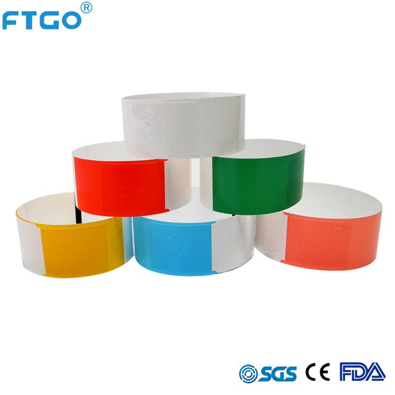 FTGO ที่ดีที่สุดคุณภาพที่กำหนดเองใดๆสีสายรัดข้อมือสำหรับ party id สายรัดข้อมือ