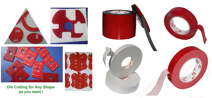 Double Sided Acrylic VHB Foam Adhesive Tape For Car Masking Or LED Panel in China