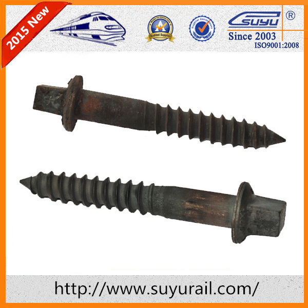 SGS Certification Black Oxide / HDG Wooden Sleeper Rail Screw