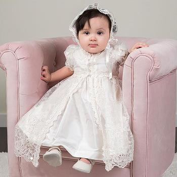 Nieuwe Baby Baby Meisje Trouwjurk Doop Doopjurk Pageant Jurk Met Hoed Peuter Meisje Prinses Jurk Voor 0 2 Jaar Buy Nieuwe Baby Baby Meisje Trouwjurk