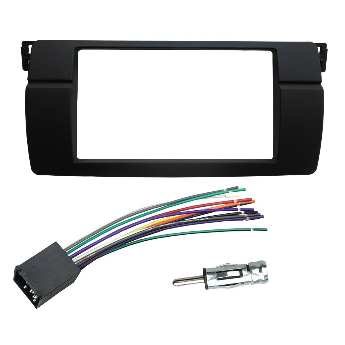 Cheap Bmw Radio Wiring Find Deals On Line At Wire Harness Cover M3 Get Quotations Dkmus Dash Installation Trim Kit For 3 Series E46 Facia Double Din Stereo