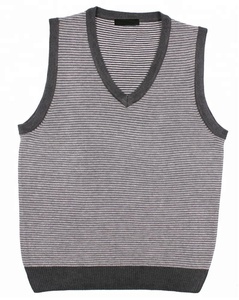 Pullover Sleeveless Knitting Striped Men Sweater Vest