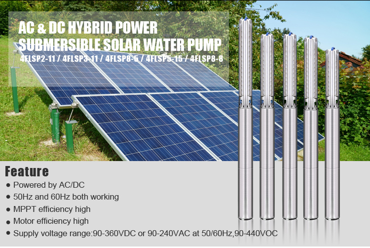 Guangzhou Felicitysolar 2HP submersible solar water pump for agriculture