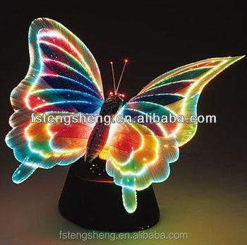 Sparkling Fiber Optic LED Butterfly Lamp Garden Decor