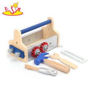 Wholesale early learning teaching children wooden tools set toy W03D090