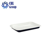 Outdoor rectangle fruit customize rolling enamel coated tin steel tray