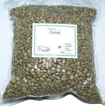 Green Beans Luwak Coffee.